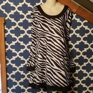 Womens plus 2x zebra mini dress or tunic 20w